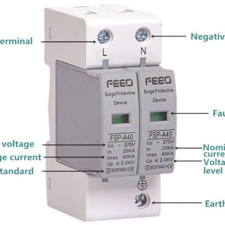 Chống sét AC 1 pha 220V Feeo FSP-A40