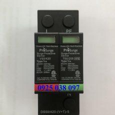 chống sét cho nguồn 220V Prosurge DS50/420-(V+T)-(S) 50kA 2P